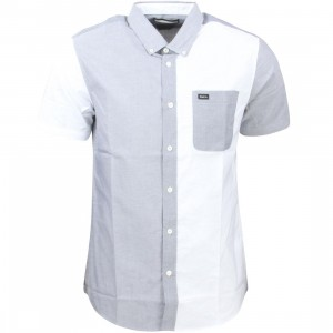 RVCA Men Thatll Do Mismatch Shirt (white)