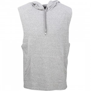 RVCA Men Compound Sleeveless Hoody (gray / noise)