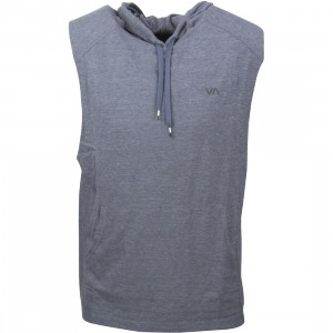 RVCA Men Compound Sleeveless Hoodie (blue / midnight)