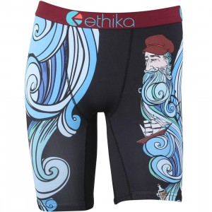 Ethika Men Workin Man Boxers (black / red)