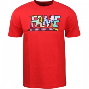 Hall of Fame Men Fame Mixtape Tee (red)