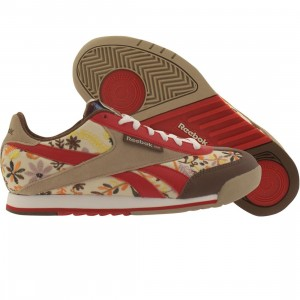 Reebok Womens CL Supercourt RMNT RBC TD (chnut / ppwht / red / khaki / white)