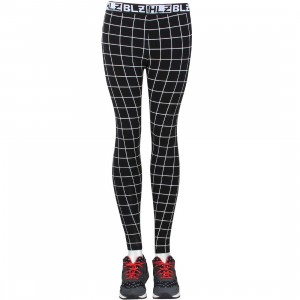 HLZBLZ Women Check Mate Leggings (black)