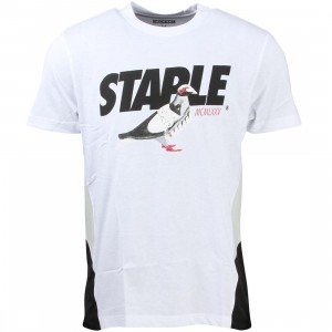 Staple Men Runners Short Tee (white)