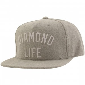 Diamond Supply Co Diamond Arch Snapback Cap (gray / heather grey)
