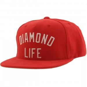 Diamond Supply Co Diamond Arch Snapback Cap (red)