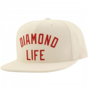 Diamond Supply Co Diamond Arch Snapback Cap (white)