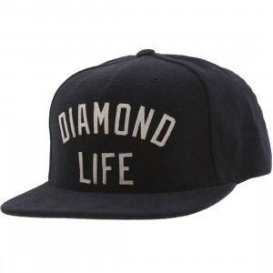 Diamond Supply Co Diamond Arch Snapback Cap (navy)