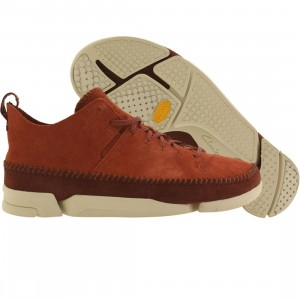 Clarks Men Trigenix Flex (orange / rust suede)