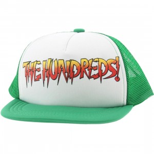 The Hundreds Rowdy Snapback Cap (green / white)