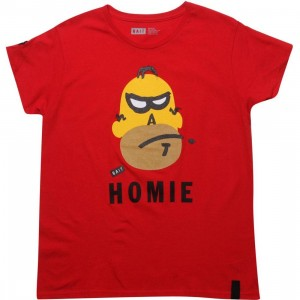 BAIT Womens Homie Tee (red)