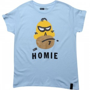 BAIT Womens Homie Tee (powder blue)