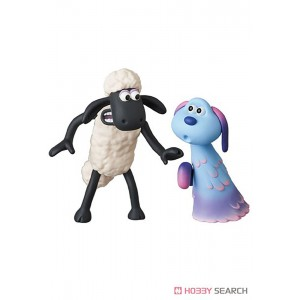 PREORDER - Medicom UDF A Shaun the Sheep Movie Farmageddon Shaun And Lu-La Figure (white)