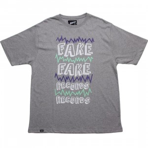 Beastin Fake Records Tee (grey)