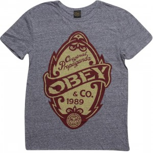 Obey Original Propaganda Tee (heather grey)
