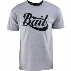 BAIT Script Logo Tee (heather grey)