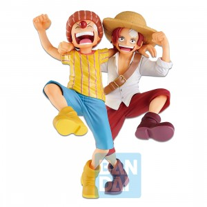 PREORDER - Bandai Ichibansho One Piece Legends Over Time Shanks And Buggy Figure (yellow)