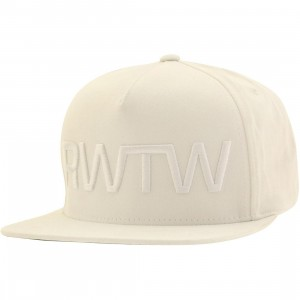 Roll With The Winner RWTW The Flag Snapback Cap (white / white)