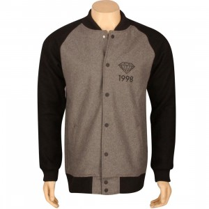 Diamond Supply Co Brilliant 98 Varsity Jacket (grey / black)