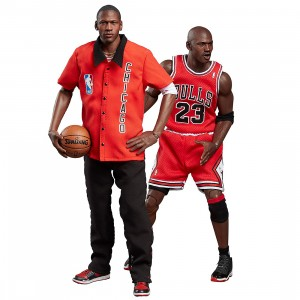 NBA x Enterbay Michael Jordan 1/6 Scale 12 Inch Figure - Away Final Limited Edition (red)