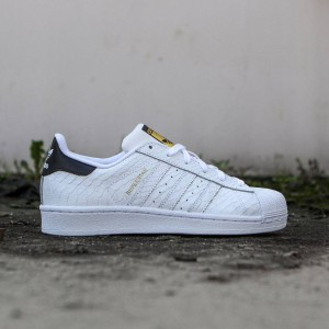 Adidas Big Kids Superstar (white / footwear white / core black)
