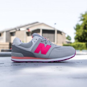 New Balance Big Kids 574 State Fair KL574BZG (gray / light grey / pink)