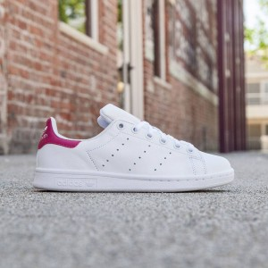Adidas Big Kids Stan Smith (white/ footwear white / bold pink)