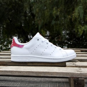 Adidas Big Kids Stan Smith (white / footwear white / bright pink)