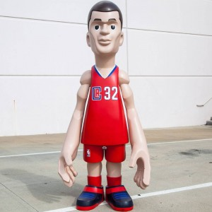 MINDstyle x NBA Los Angeles Clippers Blake Griffin 7 Foot Statue (red)