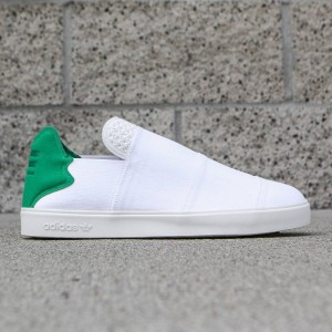 Adidas Consortium x Pharrell Williams Men Elastic Slip-On - Pink Beach (white / green)