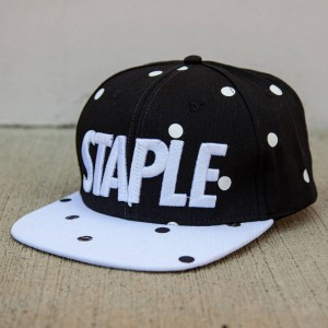 Staple Dot Snapback Cap (black)
