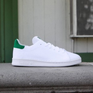 Adidas Big Kids Stan Smith Primeknit (white / green)