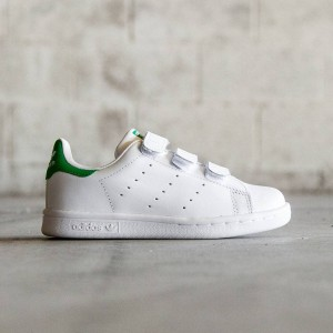 Adidas Little Kids Stan Smith CF (white / green)