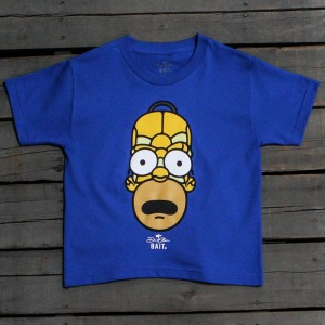 BAIT x David Flores Homer Simpson Youth Tee (blue / royal blue)