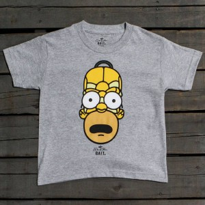 BAIT x David Flores Homer Simpson Youth Tee (gray / heather grey)