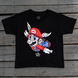 BAIT x David Flores Mario Youth Tee (black)