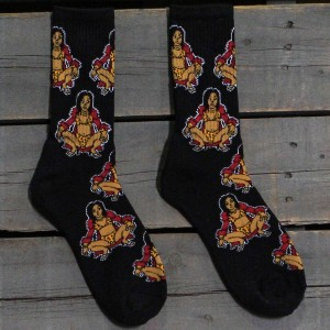 40s and Shorties Queen Bee Socks (black) 1S