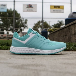 New Balance Women 574 Fresh Foam WFL574AW (teal / aquarius / white)