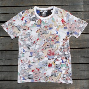 Eleven Paris x Family Guy Men Collage Tee (white / all over print)