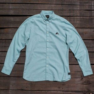 Barney Cools Men Excursion Long Sleeve Shirt (blue / ocean)