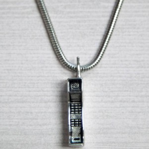 Han Cholo Saved By The Cell Necklace (silver)