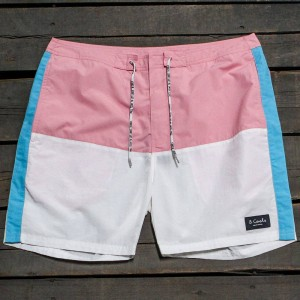 Barney Cools Men Classic 17 Shorts (pink / white / blue)