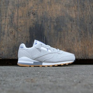 Reebok x Kendrick Lamar Little Kids Classic Leather (gray / skull grey / collegiate royal / excellent red)