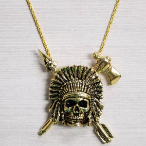 Han Cholo Indian Chief Necklace (gold)
