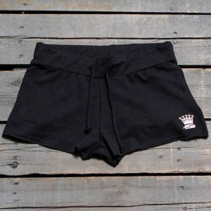 Stussy Women S Crown Embroidered Terry Shorts (black)