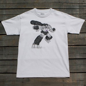 BAIT x Transformers Men Megatron Art Tee (silver)