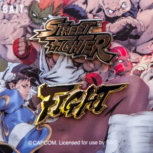 BAIT x Street Fighter Logo Fight 2 Pins (black)