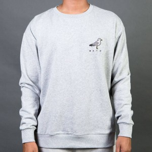 Barney Cools Men Seagull Mate Crew Sweater (gray / melange)