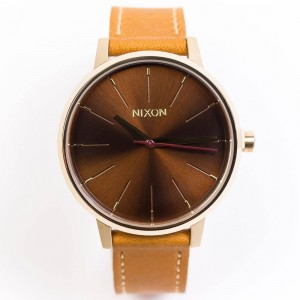 Nixon Kensington Leather Watch (gold / manu)