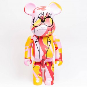 Medicom Andy Warhol Pink Camo Version 1000% Bearbrick Figure (pink)